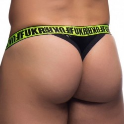 Andrew Christian FUKR Gloss Surge Thong - Black