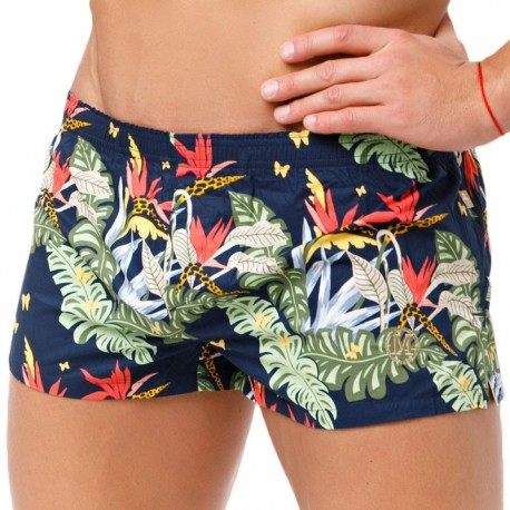 Marcuse Floral Trunk - Navy