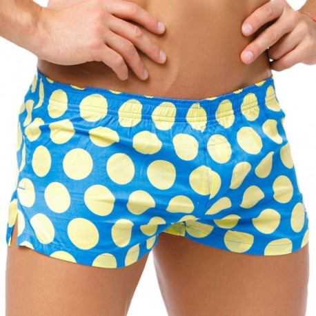 Marcuse Polka Dots Trunk -  Blue - Yellow