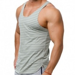 Marcuse Stripes Tank Top - Khaki