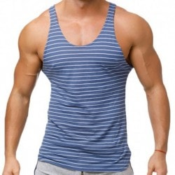 Marcuse Stripes Tank Top - Navy