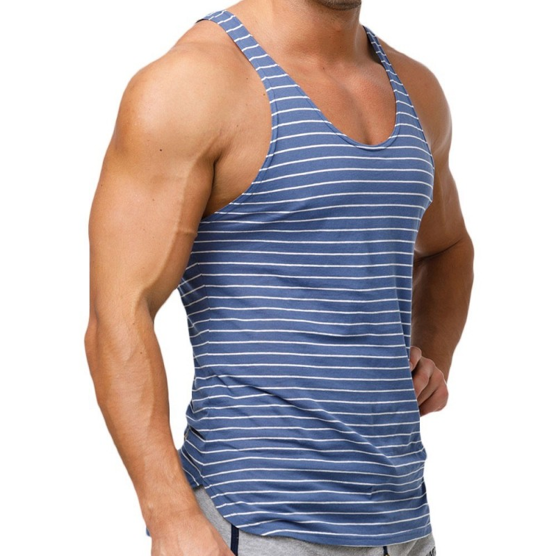 Stripes Tank Top - Navy