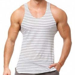 Marcuse Stripes Tank Top - White
