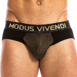 Modus Vivendi Festive Bottomless Brief - Black - Gold
