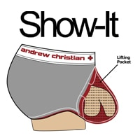 Show-It Blow! Jock with Show-It - Black - Red