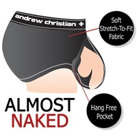 Almost Naked Trophy Boy Tagless Boxer - Black